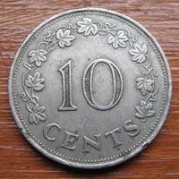 Мальта. 10 центов 1972 года
