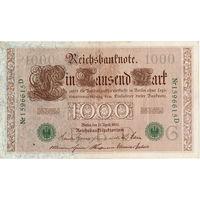 Германия, 1000 марок, 1910 г., печать зеленая *