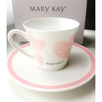 Чашка с блюдцем Mary Kay