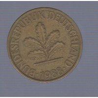10 пфеннигов Германия (ФРГ) 1988 D_Лот #1171