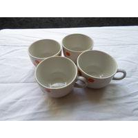 Кофейные чашки 4 штуки.