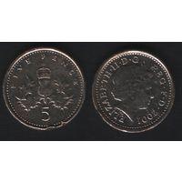 Великобритания _km988 5 пенсов 2001 год (h01)