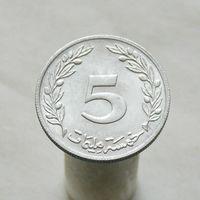 Тунис 5 миллимов 1983