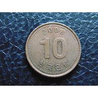 Южная Корея 10 вон 2008 год.