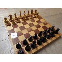 Резные советские шахматы. Дерево. Доска 37см.