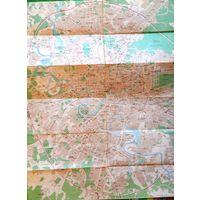 Карта Москвы и станций метро. 1983 г. Большая.