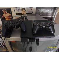Sony PlayStation 2, 7-я модель, чипованная и прошитая, флэшка на 32Гб с играми