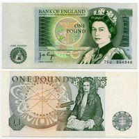 Великобритания. 1 фунт (образца 1978 года, P377a, Page, UNC)