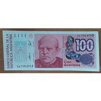 100 аустралей 1985-90 - Аргентина - UNC