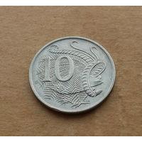 Австралия, 10 центов 1980 г., молодая королева
