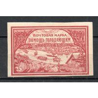 Почтово-благотворительный выпуск РСФСР 1921 год 1 марка на хлопчатой бумаге