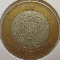 Мексика 10 песо 1997 г. В холдере (gk)
