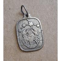 Кулон (медальон) Созведие Рак, 925