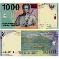 Индонезия. 1000 рупий (образца 2000 года, выпуск 2009, P141j, UNC)