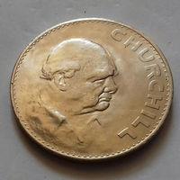 1 крона, Великобритания 1965 г., У. Черчилль, AU