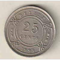 Белиз 25 цент 1993