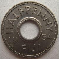 Фиджи 1/2 (пол) пенни 1954 г.