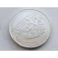 "Острова Кука 1 доллар 2009 ""Парусник Баунти""  0.999 Silver, 1.00 oz., 38,61 mm."