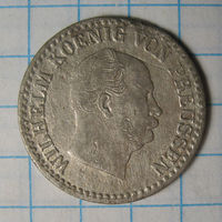1 зильбер грошен (1/30 талера), Пруссия, 1865 А год.