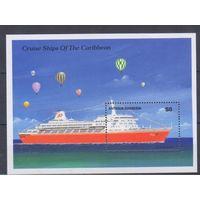 [1313] Антигуа и Барбуда 1989.Корабль.  БЛОК.