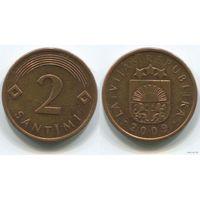 Латвия. 2 сантима (2009, XF)