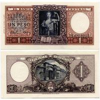 Аргентина. 1 песо (образца 1956 года, P263b, UNC)