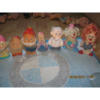 Лот резиновые игрушки СССР