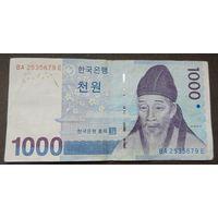 1000 вон Южная Корея