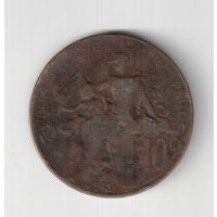 10 сантим 1913 года Франции