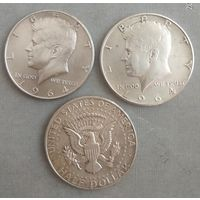 """""""Кенади"""" /Серебро -ag900 /1964 г./ 3 монеты"""