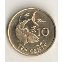 Сейшелы 10 цент 2007