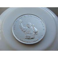"Кабо-Верде. 100 эскудо 1990 год  KM#25  ""Папа Римский Иоанн Павел II"""