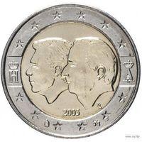 2 евро 2005 Бельгия Экономический союз с Люксембургом  UNC из ролла