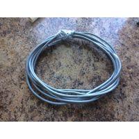 Сетевой кабель UTP5e 2 метра 16 см, обжатый с двух сторон коннекторами. Компьютерный провод для подключения интернета к телевизору ByFly SmartTV, для компьютерной сети, для ПК, Смарт ТВ, видеонаблюден