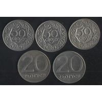 Польша 50 грошей 1923 г., 20 злотых 1989 г. Цена за все!!!