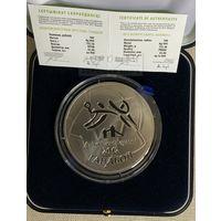 Олимпийские игры 2012 года.  Гандбол 100 рублей. Серебро. ТИРАЖ 750 штук!!!