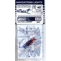 ELF 3201 Навигационные огни, 12х3 шт. Синие, Красные, Прозрачные 1/32