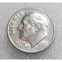 10 центов (дайм) 1987 (P) США #01