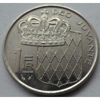 Монако 1 франк 1989 года. Состояние!