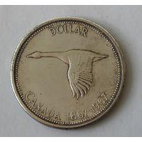 Канада 1 Доллар 1867-1967 Серебро (103)