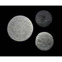 3 МОНЕТЫ РП 1627 г.(6 ГРОШЕЙ, ГРОШ, ТЕРНАР Г. ЛОБЖЕНИЦА) СИГИЗМУНД III (1587-1632) - ПО БЛИЦУ ПОЧТОЙ БЕСПЛАТНО !