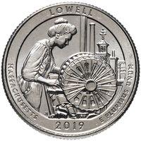 США 25 центов 46 парк Национальный исторический парк Лоуэлл 2019 P
