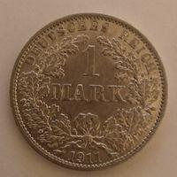 Германия 1 марка, 1911 г 900 пр.,