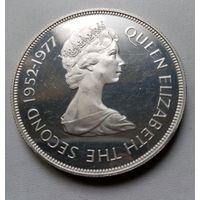 Джерси 25 пенсов 1977 г. серебро