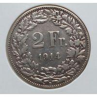 Швейцария 2  франка 1914