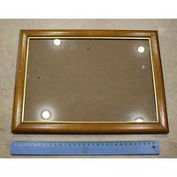 Рамка деревянная большая со стеклом, для фото.