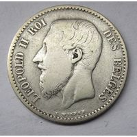 Бельгия, франк, 1866, серебро