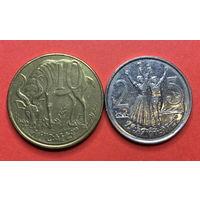 Эфиопия, 10 и 25 центов, магнитные