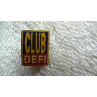 Франция. Значёк CLUB DEFI. распродажа