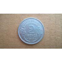 """Франция 2 франка, 1947""""B"""". (D-20)"""